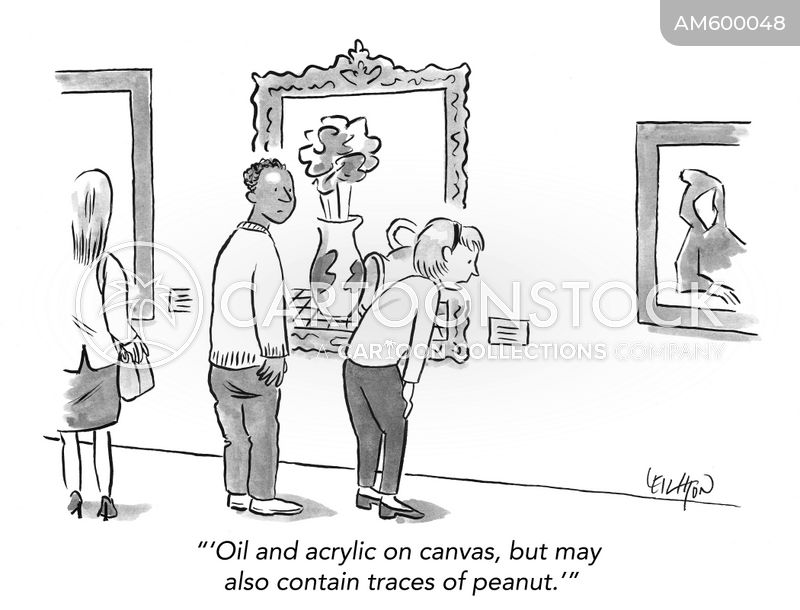 art exhibition cartoon