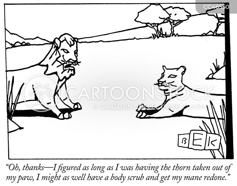 the lion and the mouse cartoon