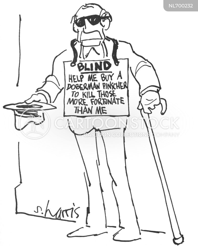 blind cartoon