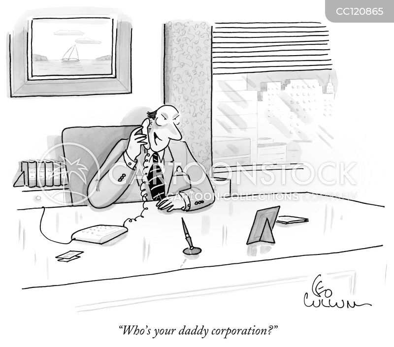 corporate environment cartoon