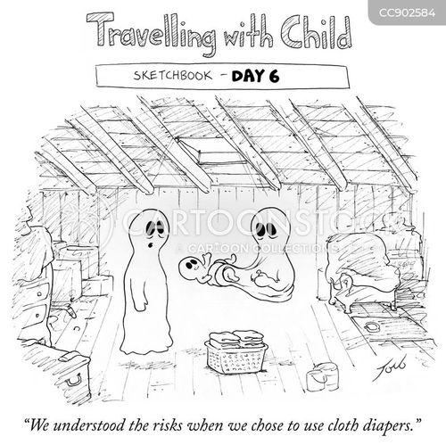 travelling with children cartoon