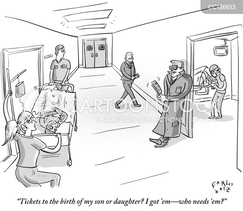 ticket sellers cartoon