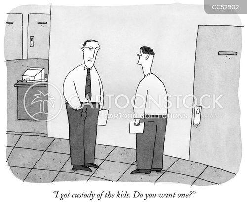 custody cartoon