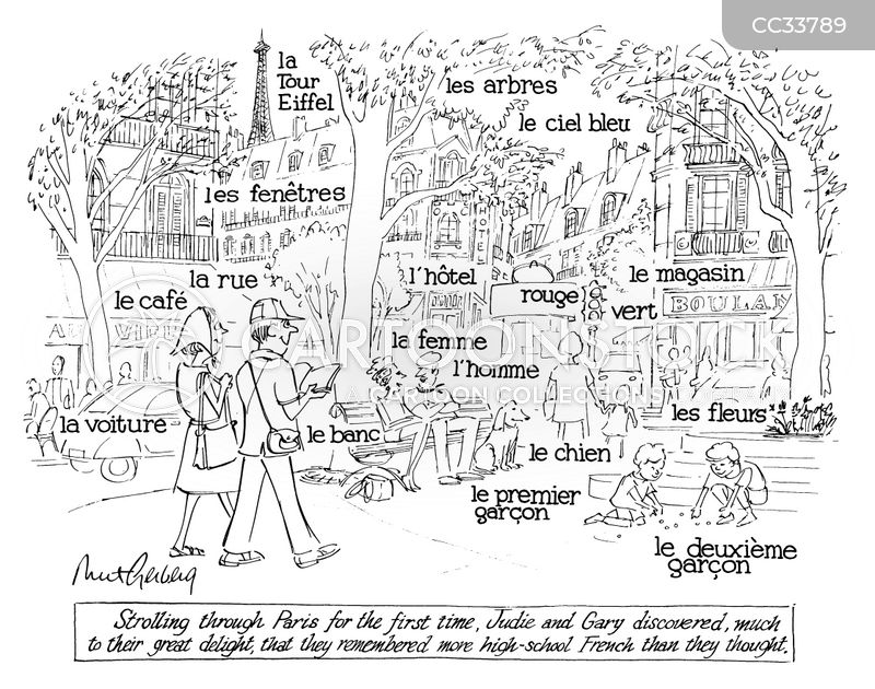 french lessons cartoon