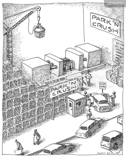 crushing cartoon