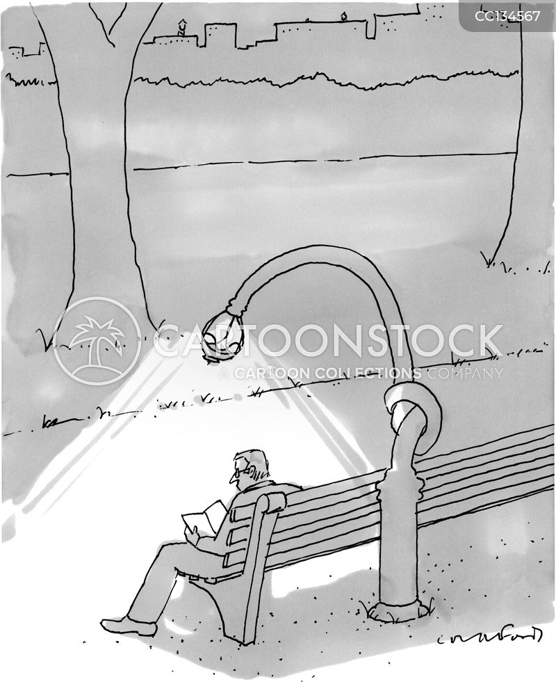 street lamps cartoon