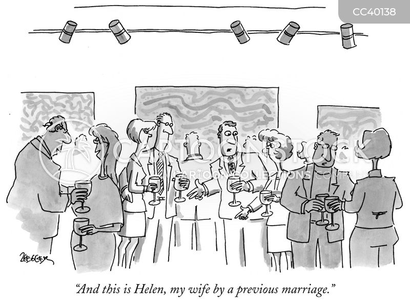 serial divorcees cartoon