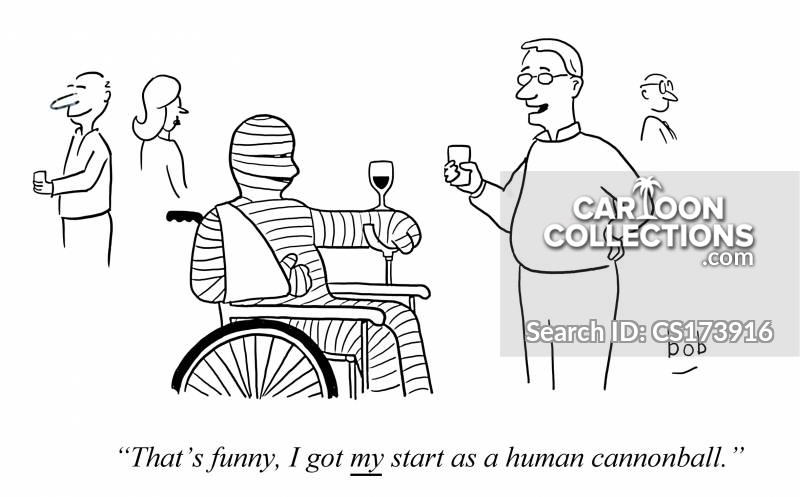 human circus act cartoon