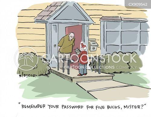 password cartoon