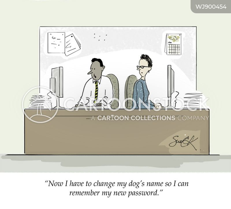 password cartoon