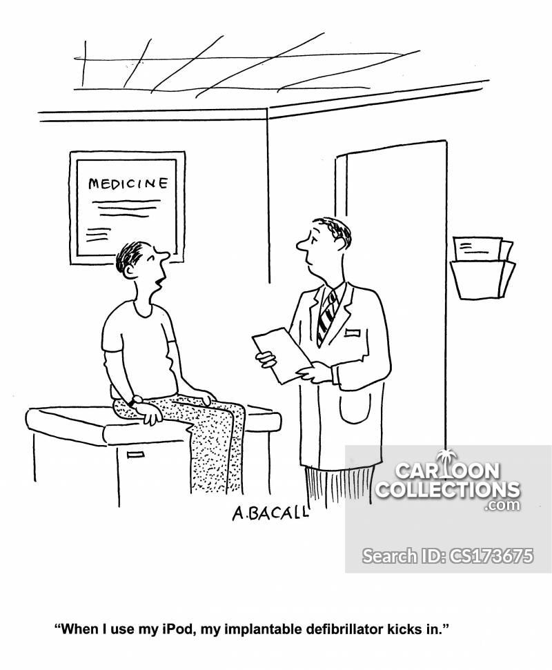 implantable defibrillator cartoon