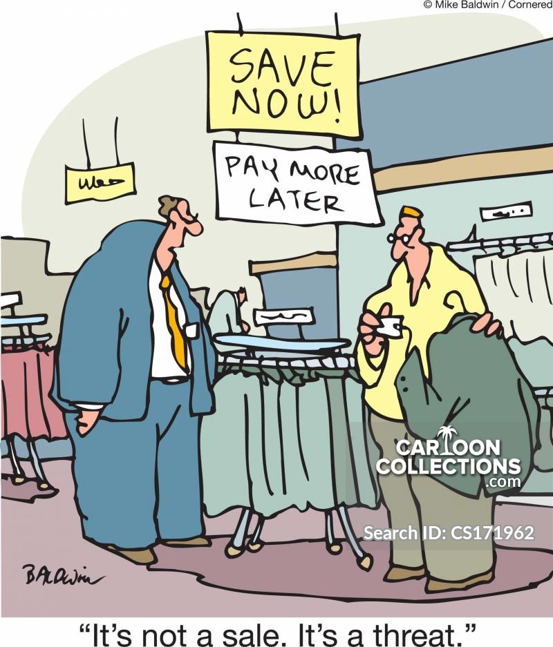 Clearence Sale cartoon