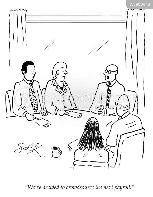 paychecks cartoon
