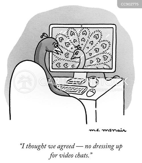 peahens cartoon
