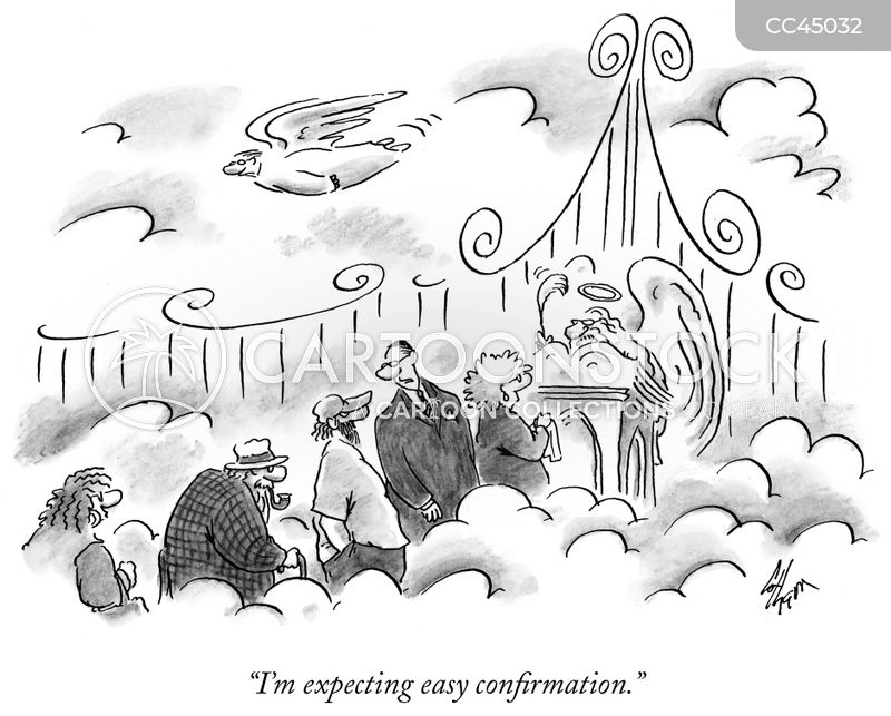 confirmation cartoon