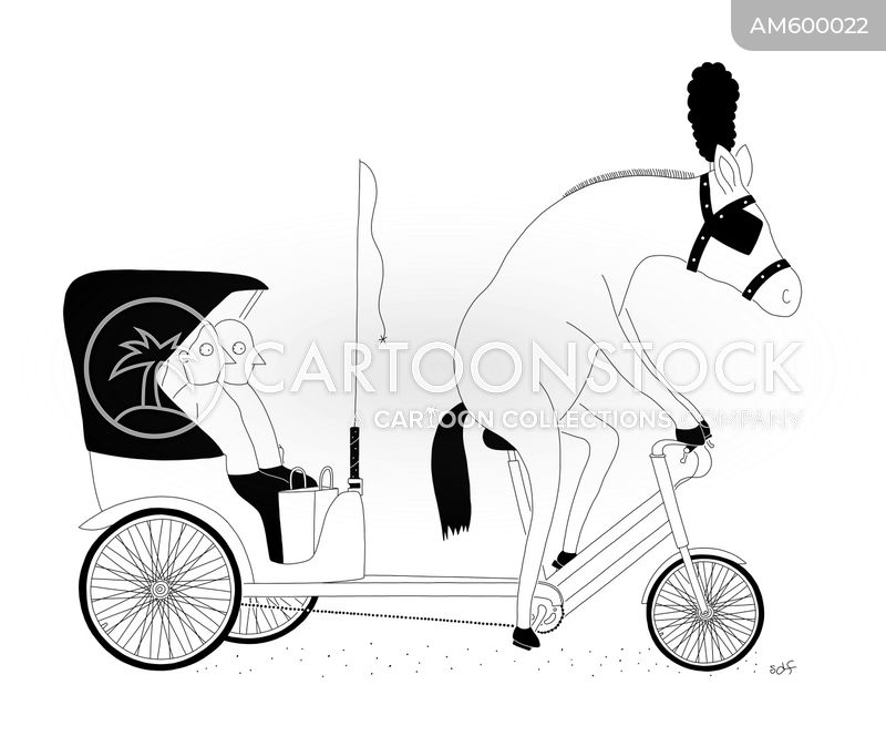 horse drawn carriages cartoon
