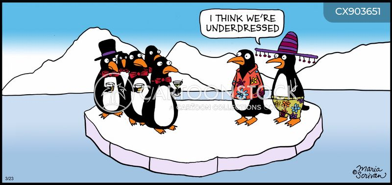 penguin suits cartoon