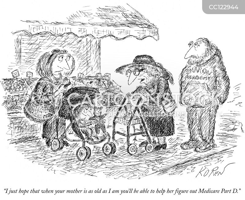 pensioner cartoon