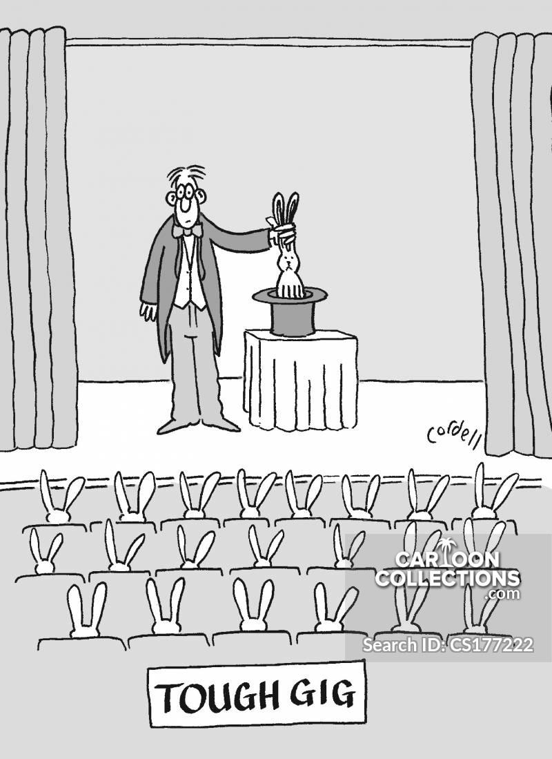 tough gig cartoon