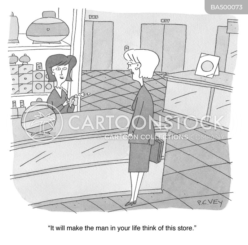saleswomen cartoon