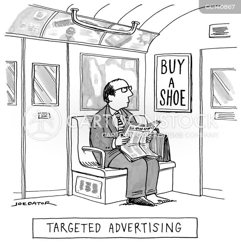 intrusive advertising cartoon