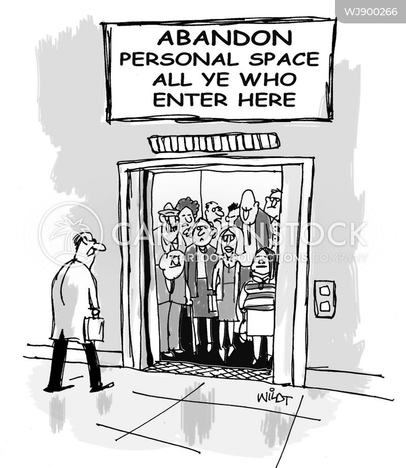personal spaces cartoon