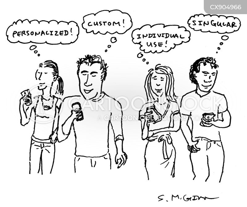 modern society cartoon