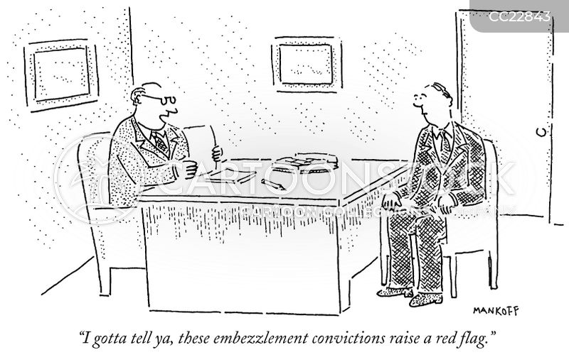 embezzling cartoon
