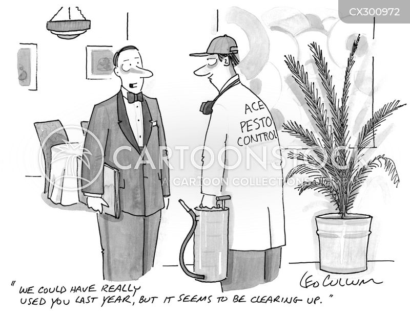 Insecticides cartoon