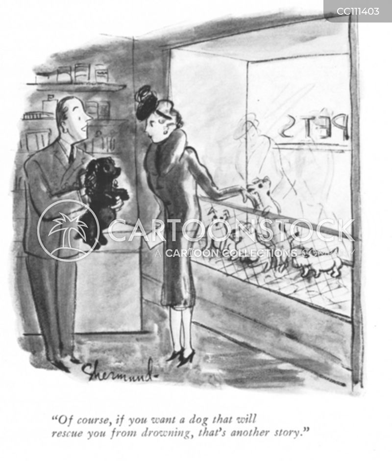 vintage pet store cartoon