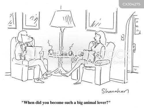 animal lovers cartoon
