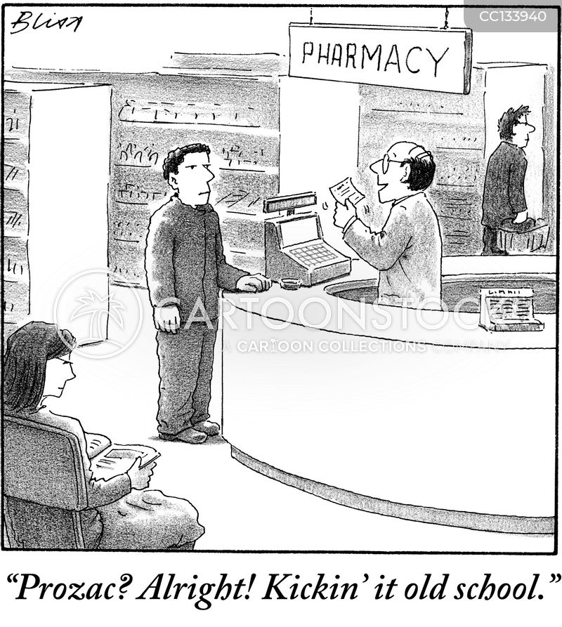 pill cartoon
