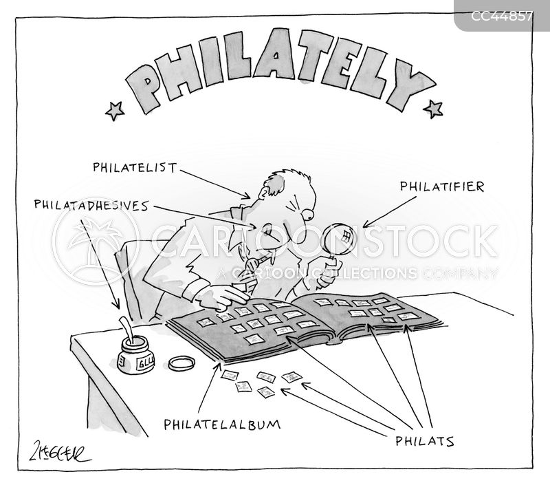 philatelists cartoon