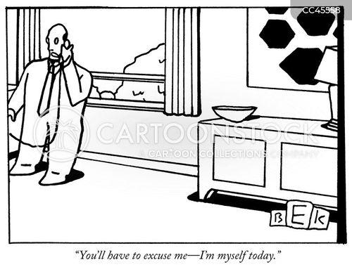making excuses cartoon