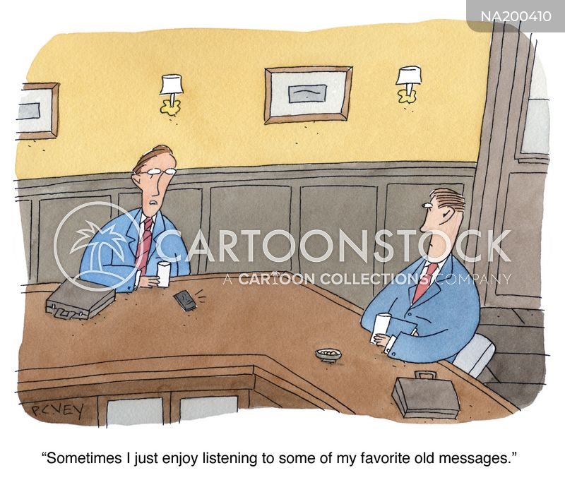 phone message cartoon