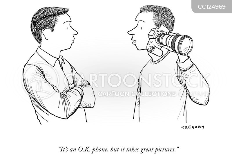 camera phone cartoon