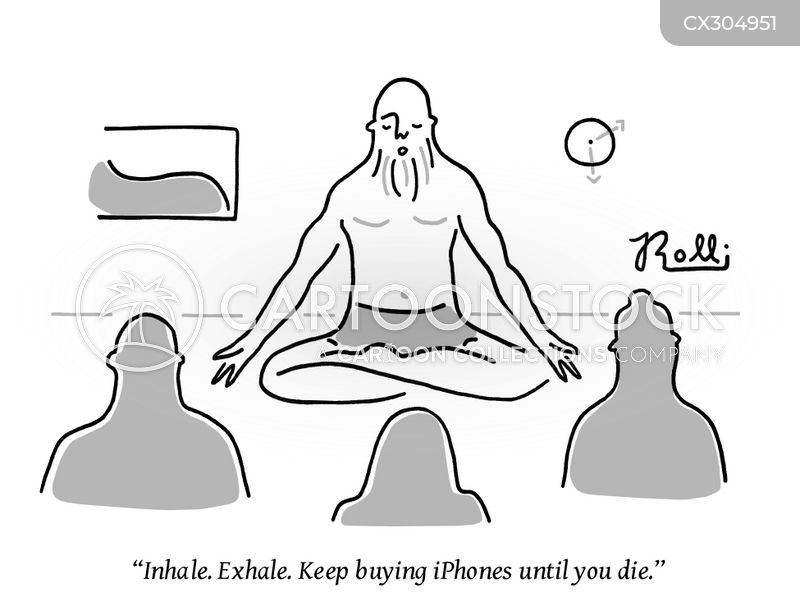 meditate cartoon