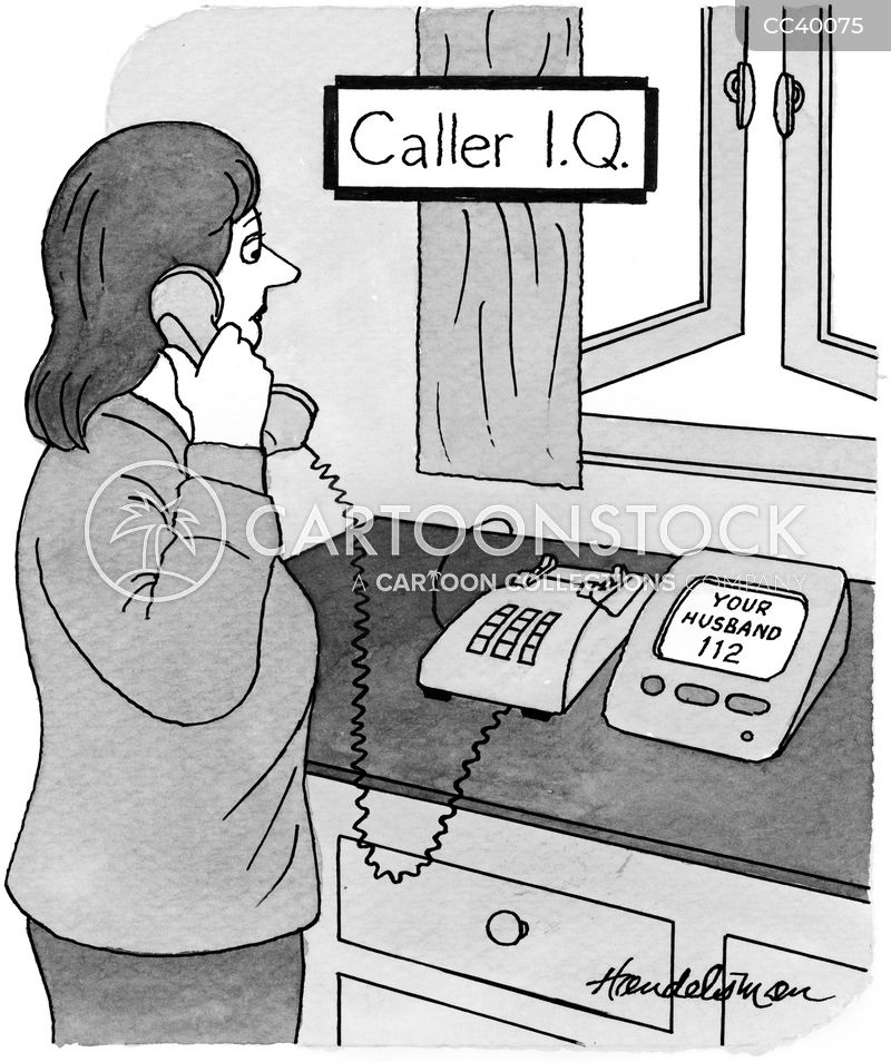 caller identification cartoon
