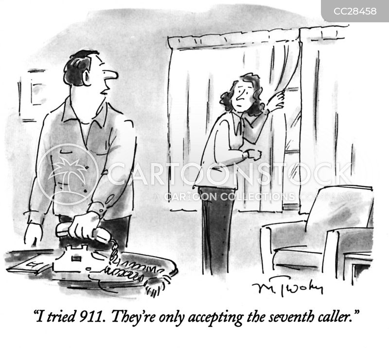 calling 911 cartoon