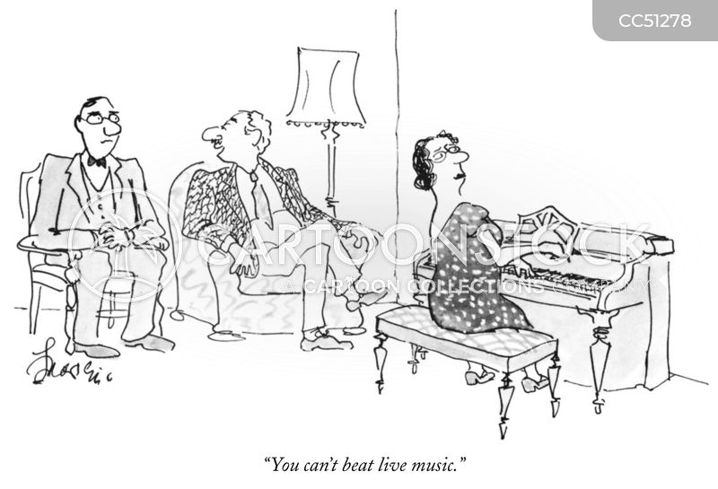 Piano Players cartoon