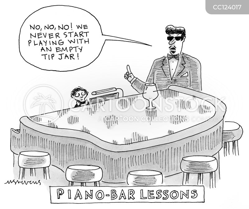 piano teacher cartoon