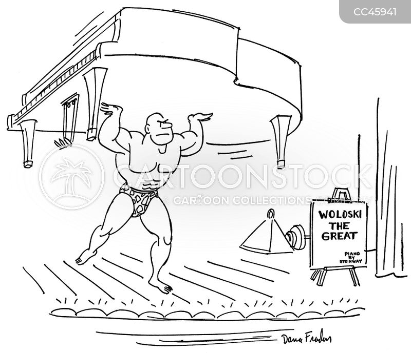 weightlifting cartoon