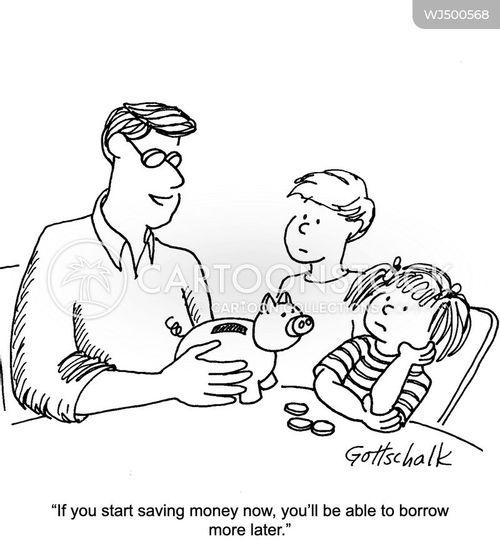 borrowing money cartoon