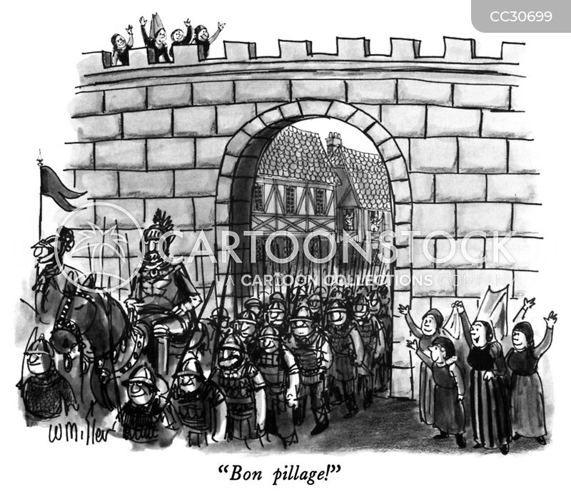 hundred years war cartoon
