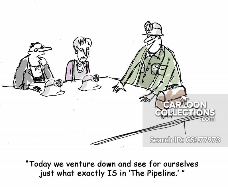 in the pipeline cartoon