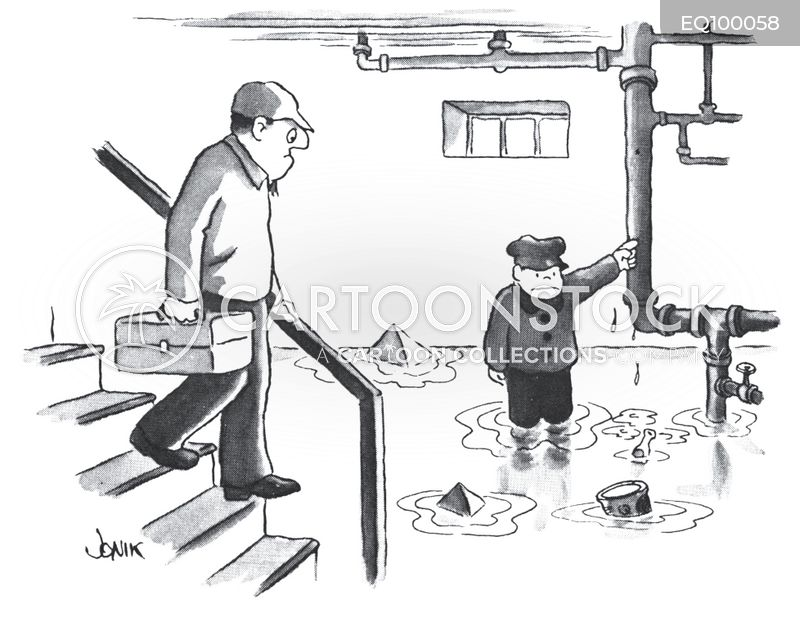 plumber cartoon