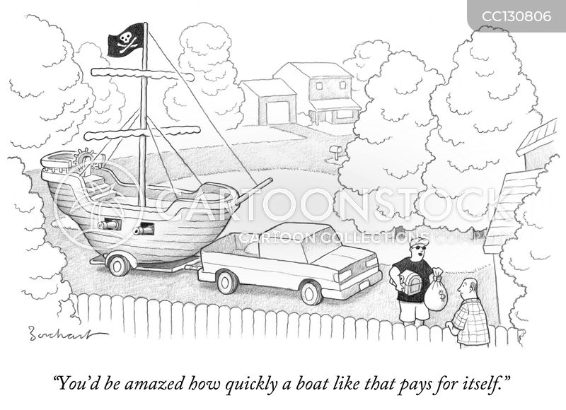 Private Yacht cartoon