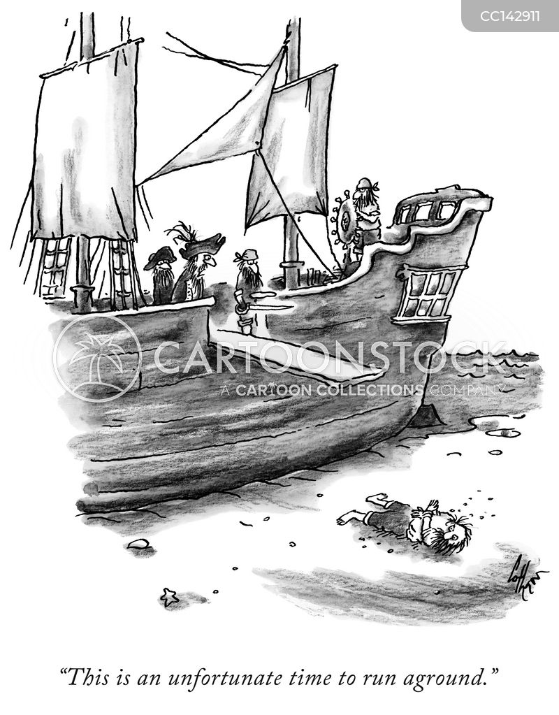 run aground cartoon