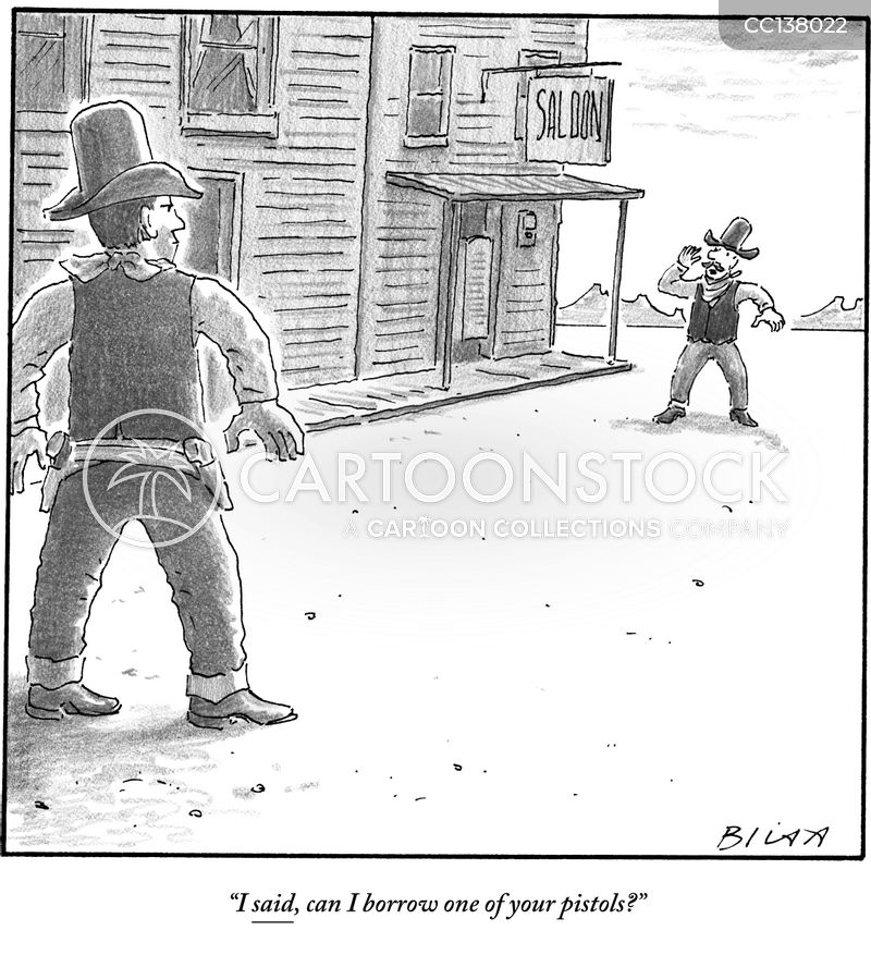Gunfight cartoons, Gunfight cartoon, funny, Gunfight picture, Gunfight pictures, Gunfight image, Gunfight images, Gunfight illustration, Gunfight illustrations