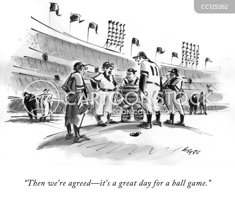 baseball players cartoon